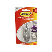 Command 3M Traditional Metallic Coated Decorative Hook + Medium Strips