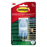 Command Clear Large Outdoor Window Hook