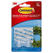 Command Damage-Free Hanging Medium Hooks Clear