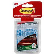 Command Outdoor Rope Light Clips With Foam Strips
