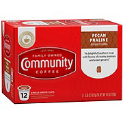 Community Coffee Pecan Praline Medium-Dark Roast Single Serve Coffee K Cups