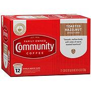 Community Coffee Toasted Hazelnut Medium Dark Roast Single Serve Coffee K Cups