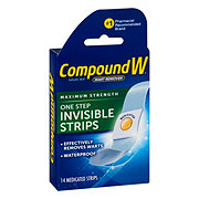 Compound W Wart Remover One Step Invisible Strips