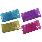 Continental Accessory Glitter Rectangle Pencil Pouch, Colors May Vary