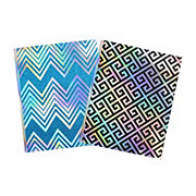 Continental Accessory Keep Calm & Glitter On Portfolio w/ Prongs, Colors & Patterns May Vary