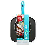Cook Prep Eat Aqua Griddle And Fry Pan Set