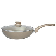 Cook Prep Eat Nonstick 10 Inch Fry Pan With Lid Gold