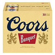 Coors Banquet Beer 30 PK Cans