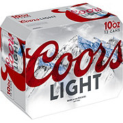 Coors Light Beer 10 oz Cans