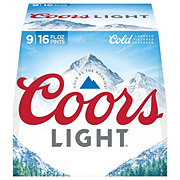Coors Light Beer 16 oz Aluminum Bottles
