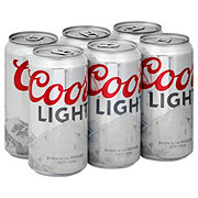 Coors Light Beer 6 PK Cans
