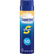 Coppertone Sport SPF 50 Travel Spray Sunscreen