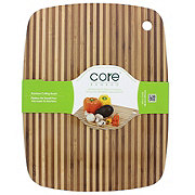 Core Bamboo 15x11.5 in Striped Bamboo Board