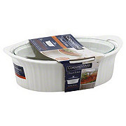 CorningWare French White Oval Casserole with Lid