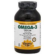 Country Life Natural Omega-3 1000 mg Softgels