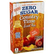 Country Time On the Go Zero Sugar Peach Iced Tea Drink Mix