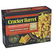 Cracker Barrel Sharp Cheddar and Bacon Macaroni and Cheese Dinner