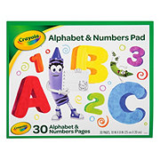 Crayola Beginning Alphabet And Numbers 30 Sheets