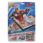 Crayola Color Alive Avengers Coloring Pages & Crayons