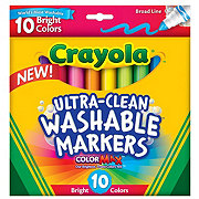 Crayola Ultra-Clean Broad Line Markers, Bright Colors