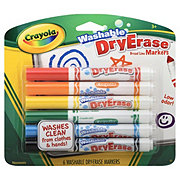 Crayola Washable Dry Erase Broad Line Markers