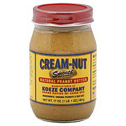 Cream-Nut Smooth Natural Peanut Butter