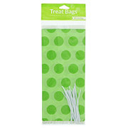 Creative Converting Cello Treat Bags Lime Green Dots