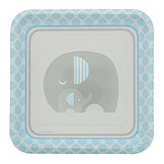 Creative Converting Little Peanut Boy Square Plates, 9 inch