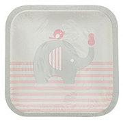 Creative Converting Little Peanut Girl Square Plates, 7 inch