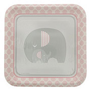 Creative Converting Little Peanut Girl Square Plates, 9 inch