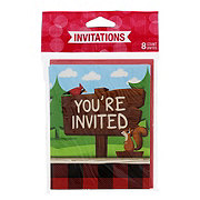 Creative Converting Lum-Bear-Jack Invitations