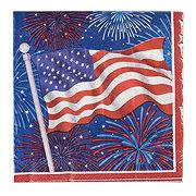 Creative Converting Lunch Napkin Flag Firework Celebration