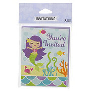 Creative Converting Mermaid & Friends Invitations