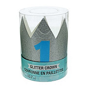Creative Converting Mini Blue Glitter Hat Crown