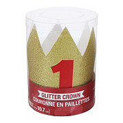 Creative Converting Mini Glitter Crown Red