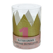Creative Converting Mini Pink Glitter Hat Crown