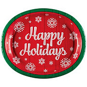 Creative Converting Oval Platter Happy Holidays