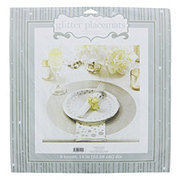 Creative Converting Silver Glitter Placemats