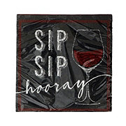 Creative Converting Sip Sip Hooray Wine Napkins
