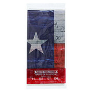 Creative Converting Texas Pride Plastic Table Cover 54x102 in