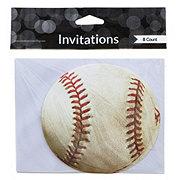 Creative Expressions Baseball Postcard Invitation, 8 Count