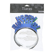 Creative Expressions Happy Birthday Foil Tiara, Colors May Vary