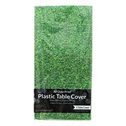 Creative Expressions Sports Plastic Tablecover, Grass 54 x 108
