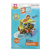 Creative Hands 3D Pop 'N Build, Build-A- School Bus Craft Kit