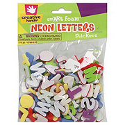 Creative Hands Sm'ARt Foam Neon Letters Stickers, 175 pc