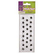 Creativity Street Wiggly Eyes Peel & Stick Black