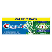 Crest Complete Multi-Benefit Whitening + Scope Outlast Toothpaste Mint Twin Pack