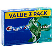 Crest Complete Multi-Benefit Whitening + Scope Toothpaste Minty Fresh Triple Pack