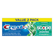 Crest Complete Multi-Benefit Whitening + Scope Toothpaste Minty Fresh Twin Pack