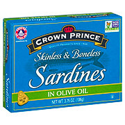 Crown Prince Skinless and Boneless Sardines in Olive Oil